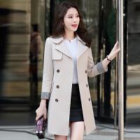 风衣女中长款韩版春季2018新款修身显瘦女装英伦风cic春秋装外套