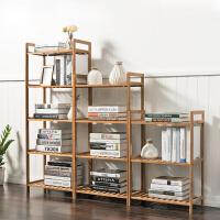 书架简易置物架实木多层落地宿舍儿童储物收纳架学生书柜