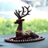 饰品摆件一路平安小鹿创意车载车内装饰个性摆件