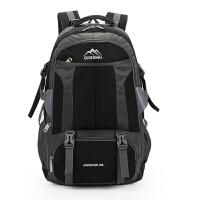 背包男双肩包女防水电脑包旅行书包时尚运动轻便大容量户外登山包 黑色升级版 60升