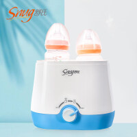 暖奶器 双瓶温奶器恒温热奶器婴儿奶瓶保温器智能消毒二合一a461
