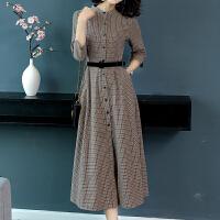 秋新款女装2018韩版气质有女人味的正式场合连衣裙女秋长袖秋裙