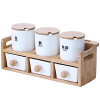 调料盒套装家用六件套调料瓶厨房调料罐陶瓷调味罐放盐调味盒