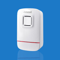 1单接收器 不可单用 配一拖二多 海得曼无线不用电池自发电门铃 白色(不可单用)