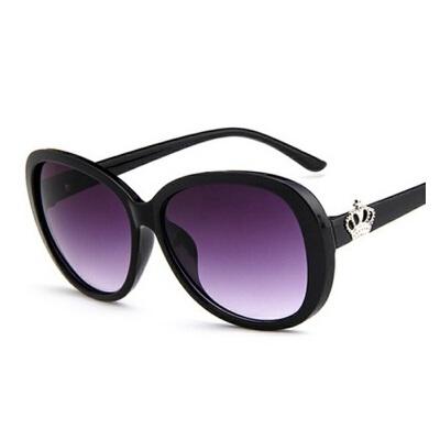 新款时尚皇冠太阳眼镜9583 百搭墨镜女士太阳镜大框蛤蟆镜