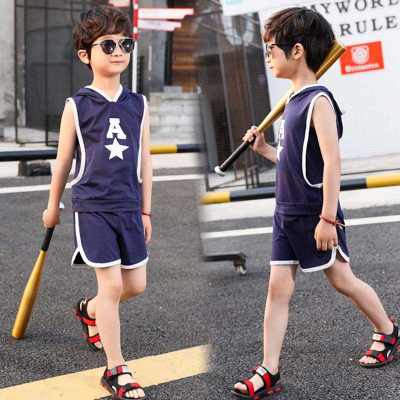 男童夏装新款套装韩版儿童无袖背心夏季薄款两件套潮