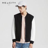 【2件2.5到手价:62.5】MECITY男装空气层棒球领棉撞色夹克外套男韩版宽松