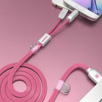 苹果数据线 iphone7/8手机通用安卓充电线器一拖二两用2.1a快速充电6s小米vivo华为op