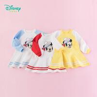 【129元3件】迪士尼Disney童装 女童运动服连衣裙荷叶小裙摆俏皮裙子193Q690