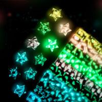 【支持礼品卡】夜光折星星纸叠幸运星星折纸条许愿星瓶管创意礼品kz1
