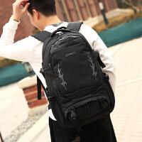背包大容量潮流双肩包男士商务旅行休闲电脑包防水旅游运动登山包