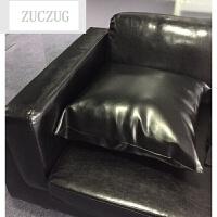 ZUCZUG北欧小户型皮艺沙发日式简约客厅咖啡厅单人双人三人皮沙发椅