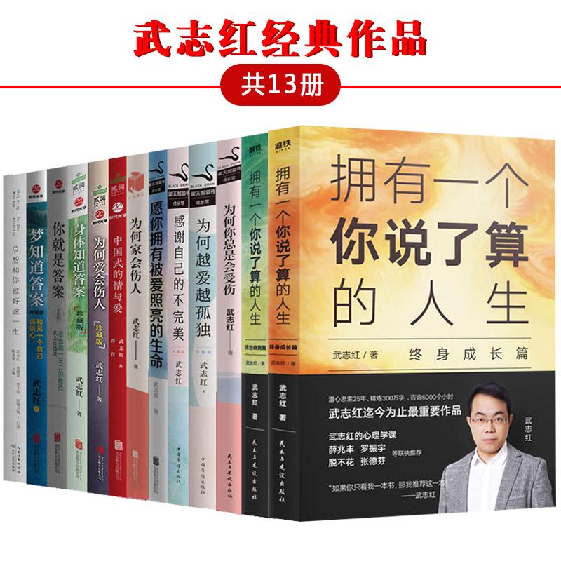 武志红心理学书籍(套装全13册):拥有一个你说了算的人生·终身成长篇+活出自我篇+为何家会伤人+为何爱会伤人…武志红心理学经典作品