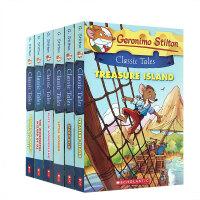 英文原版青少年小说 Geronimo Stilton Classic Tales 老鼠记者故事7册合售全彩漫画类入门初级章节桥梁书 Scholastic出版7-8-12岁