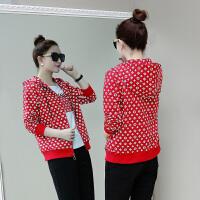 运动服套装女春秋装2018新款秋季韩版时尚休闲女装印花卫衣三件套