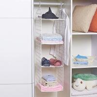 宿舍衣柜分层置物架层架储物架 塑料DIY折叠橱柜隔层架挂篮收纳架