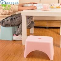 凳子家用创意时尚塑料小凳子 收纳整理置物架耐用换鞋凳 31*21*20.5cm