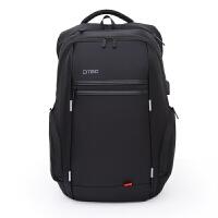 电脑包双肩15.6/17.3寸商务外置USB笔记本电脑包双肩背包 黑色