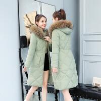 冬季新款羽绒棉衣女中长款修身韩版过膝长款外套潮反季