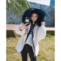 冬装新款女装韩版宽松连帽超大毛领棉衣加厚冬天短外套潮