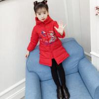 儿童中国风冬季新款女童中长款复古棉衣中大童唐装棉袄潮