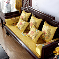 新中式红木沙发垫实木家具坐垫古典罗汉床垫子套罩加厚海绵防滑定做