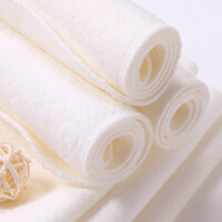 婴儿纯棉尿布 新生儿纯棉除螨宝宝尿布10条装 白色