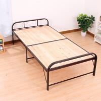 简易木板折叠床实木陪护床办公室午睡床钢木床单人床双人床1.2米