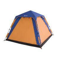 帐篷户外3-4人野营野外露营自动家庭旅游防晒防雨沙滩钓鱼套装 休闲自动款 桔拼蓝