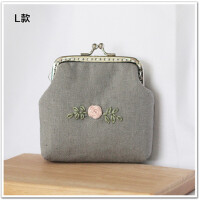 手工布艺diy制作刺绣口金包材料包礼物零钱包卡包送友人创意