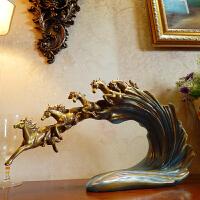 办公室创意骏马摆件工艺品欧式家居酒柜装饰摆设马到成功开业礼品