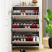 超薄翻斗鞋柜17cm白色欧式轻奢入户玄关柜进门大容量门口鞋橱家用