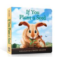 【全店300减100】英文原版 If You Plant a Seed 如果你种下一颗种子 儿童英语启蒙绘本 亲子趣味互