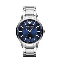 Armani阿玛尼蓝色经典钢带石英腕表防水 商务休闲男士手表AR2477