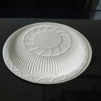 一次性盘子餐具碗碟杯勺四件套玉米淀粉盘子餐具家用 乳白色 淀粉盘子