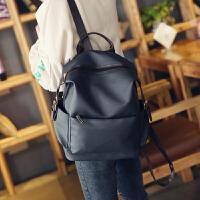 简约大容量双肩包女pu软皮韩版背包学院风学生书包旅行包