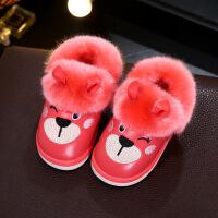 №【2019新款】小朋友穿的儿童PU皮面棉拖鞋冬可爱卡通防水男女童宝宝居家室外包跟棉鞋