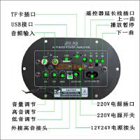 汽车蓝牙音响摩托电脑大功率方形重低音炮12V24V220V家用车载音箱SN7284