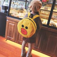 幼儿园书包面包超人小黄鸭布朗熊可爱卡通儿童双肩包韩版潮男女童
