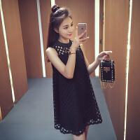 孕妇裙韩版大码a字短裙子夏季孕妇装夏装镂空无袖连衣裙