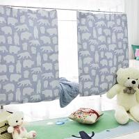 小白熊学生寝室宿舍遮光床帘支架上铺下铺男生女生防尘顶透气