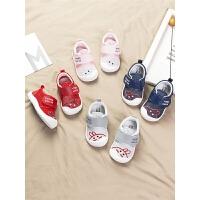 0-1-2岁宝宝夏季透气网面鞋男宝宝鞋子婴儿凉鞋女宝宝学步鞋
