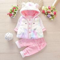女童装秋冬款0一1-2岁婴儿3三件套装女宝宝6个月儿冬装