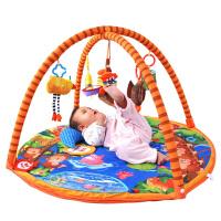 LALABABY/拉拉布书 宝宝音乐游戏垫 新生儿健身架 猴子捞月