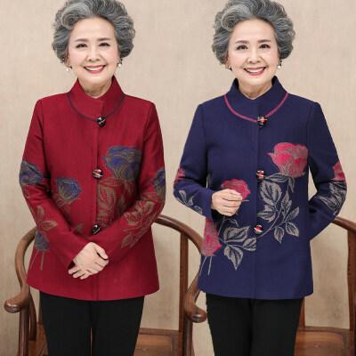 妈妈装外套春装女短款中老年春秋女装上衣奶奶装老人衣服女 发货周期:一般在付款后2-90天左右发货,具体发货时间请以与客服协商的时间为准