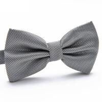 伴郎英伦韩版演出礼服蝴蝶结银灰色领结男士正装领结