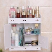 浴室置物柜 卫生间墙上置物架免打孔浴室厕所洗手间洗漱台吸壁式收纳柜化妆架