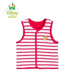 【卷后139元3件】迪士尼Disney 婴儿衣服上衣男女宝宝双面纯棉小马甲153S702