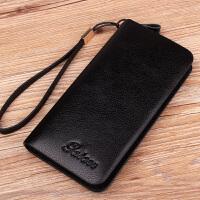 新款潮男士钱包长款皮质拉链手机包韩版青年皮包男款手包