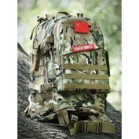户外战术背包 迷彩背包背囊登山包军迷双肩包钓鱼攻击包45L